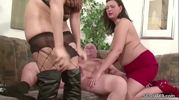 Threesomes, Old milf, Old fucking, Mature german, German old