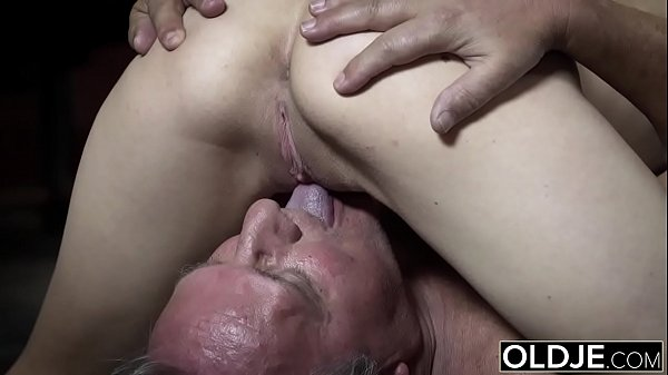 Young blowjob, Young and old, Grandpa